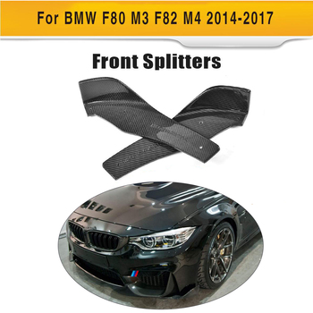 Углеродного волокна переднего бампера для губ плюс сторона юбки разветвители Cupwings для BMW F80 M3 F82 F83 M4 купе 2014-2018 >> HSPEED KSLINE Official Store