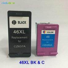 1set For HP46XL Black/Color Ink Cartridge CZ637A  HP 46XL for hp DeskJet 2020HC 2520HC 2025HC 2520 2020