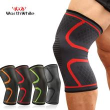 WorthWhile 1 PC Elastic Knee Pads Nylon Sports Fitness Gear Kneepad Brace Running Basketball Protector Volleyball Support