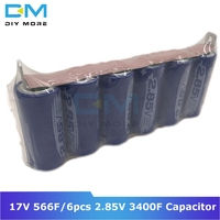 Diymore Super Farad Capacitor 17V 566F Ultracapacitor 6pcs 2.85V 3400F Automotive Rectifier With Protection Board Module