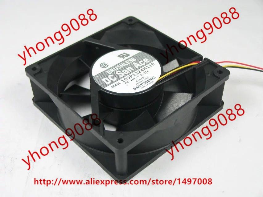 SANYO 109P1224H119 DC 24V 0.25A 120x120x38mm Server Square Fan