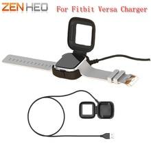 Doca de carregamento Berço Dock Station Carregador USB de Carregamento Cabo de Alimentação 1 M Comprimento Adaptador de Carregamento Para Fitbit Versa Relógio Inteligente