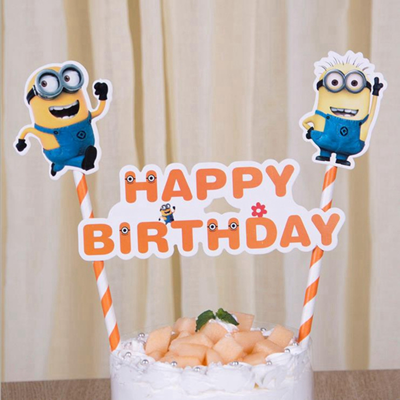 30 Satze Yellow Minions Thema Happy Birthday Cupcake Kuchen Topper