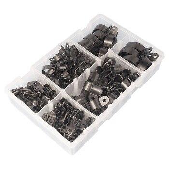 Высокое качество ассорти в коробке черные нейлоновые пластиковые P зажимы-200 штук