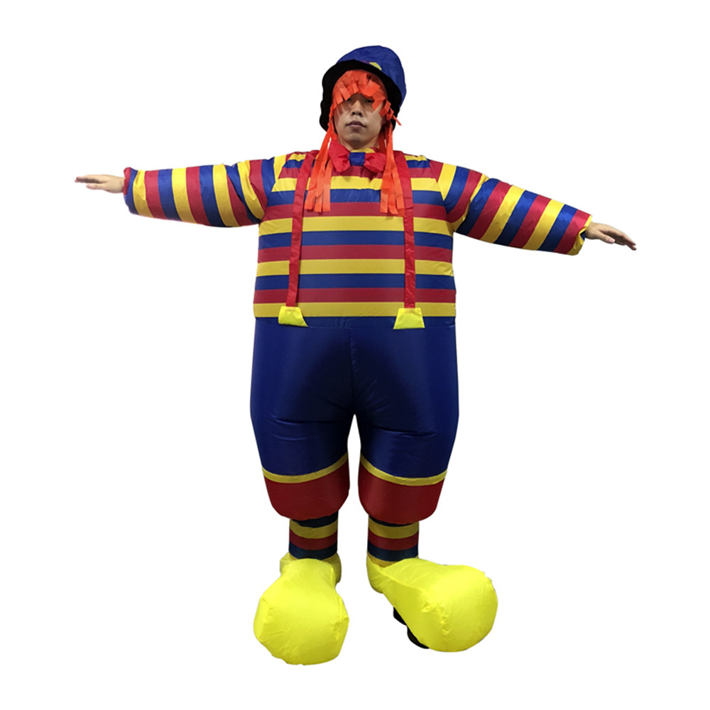 2018 promotional Halloween costume adult inflatable clown costume with hats magic show clothing masquerade costumes Clown series