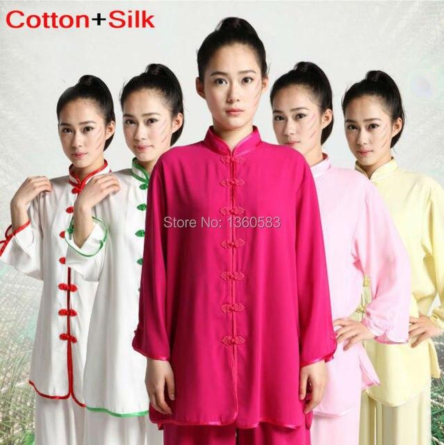 Тай-чи одежда из хлопка, Кунг-Фу Боевые искусства Шоу униформы, летнее утро костюм Тайцзицюань одежда для Женщин и мужчин