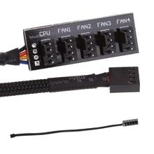 Black 1 To 5 4 Pin TX4 PWM CPU Cooling Fan/Case Splitter Adapter Power Cable Hub Splitter Adapter 39.5cm Z07 Drop Ship