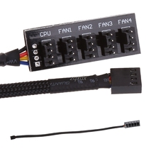 Preto 1 a 5 4 pinos tx4 pwm cpu ventilador de refrigeração/caso divisor adaptador cabo de alimentação hub divisor adaptador 39.5cm z07 navio da gota