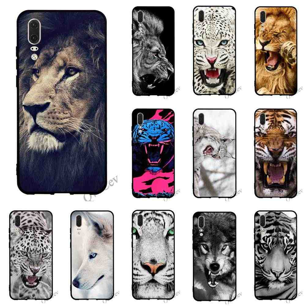 Colorful Classic Cool lion tiger Wolf Phone Cover for Huawei Mate 20 Pro Case 10 P8 P20 P10 P9 Lite Mini P Smart Back