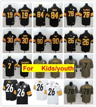 c0977dab266 youth kids s Pittsburgh Antonio Brown JuJu Smith-Schuster Ben  Roethlisberger T.J. Watt Alejandro Villanueva Le'Veon Bell jersey