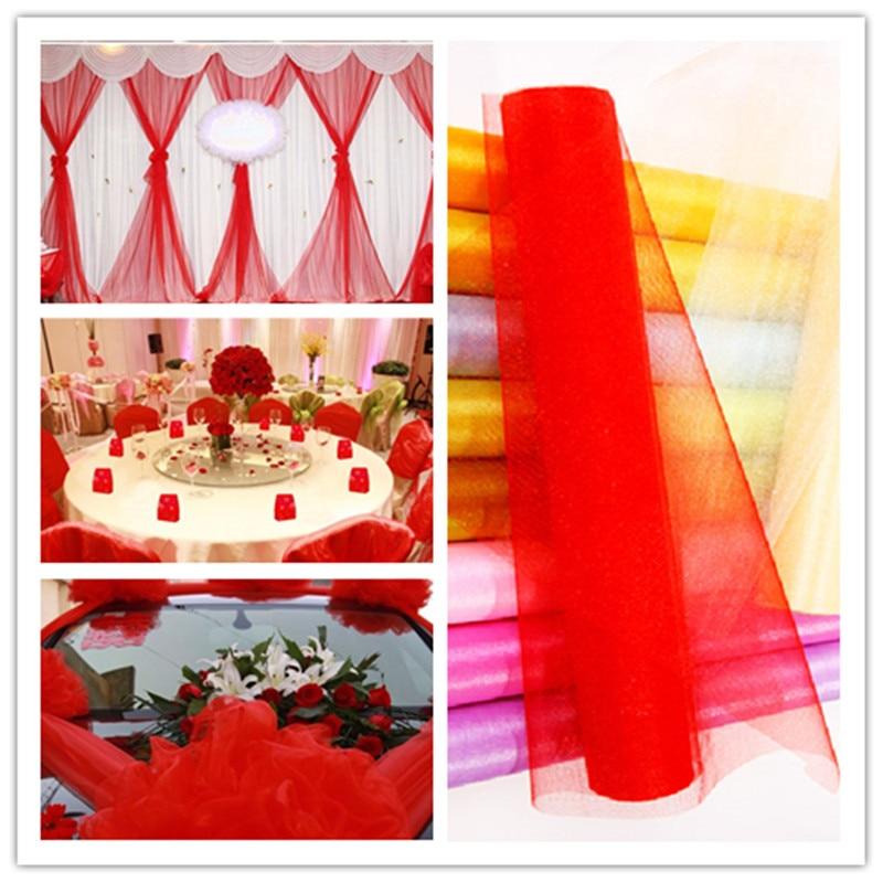 New Transparent Net Gauze Tulle Skirt Skirt Fabric Decorative Christmas Child Dress Wedding Dress 0.48M * 5M / 5pcs / 5Z SH800 fonksiyonlu rende