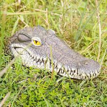 Pokich Плавающая Голова Крокодила Пруд Бассейн Вода Украшения Сада Высокое Качество Плавающей