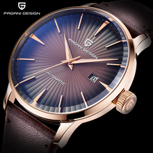 купить PAGANI DESIGN New Brand Watch Men Automatic Mechanical Wristwatches Mens Waterproof Leather Business Men's Clock dropshipping дешево
