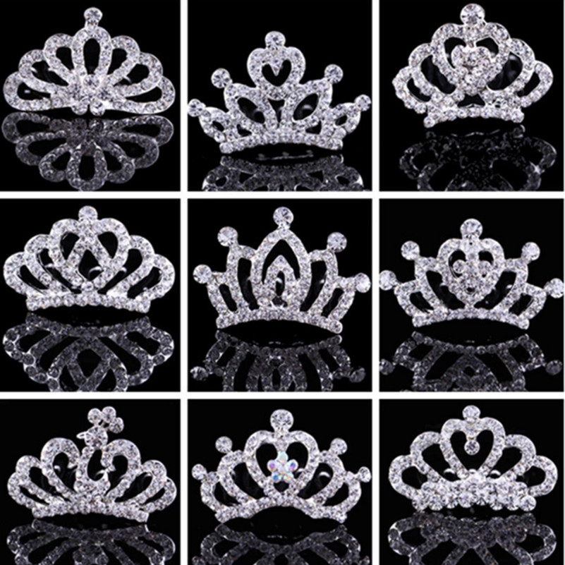 Children <font><b>Crown</b></font> Rhinestone Hair Ornaments Tiaras Crystal <font><b>Princess</b></font> <font><b>Crown</b></font> Children Hairpins Girls Hair Accessories Girls Hair Clip image