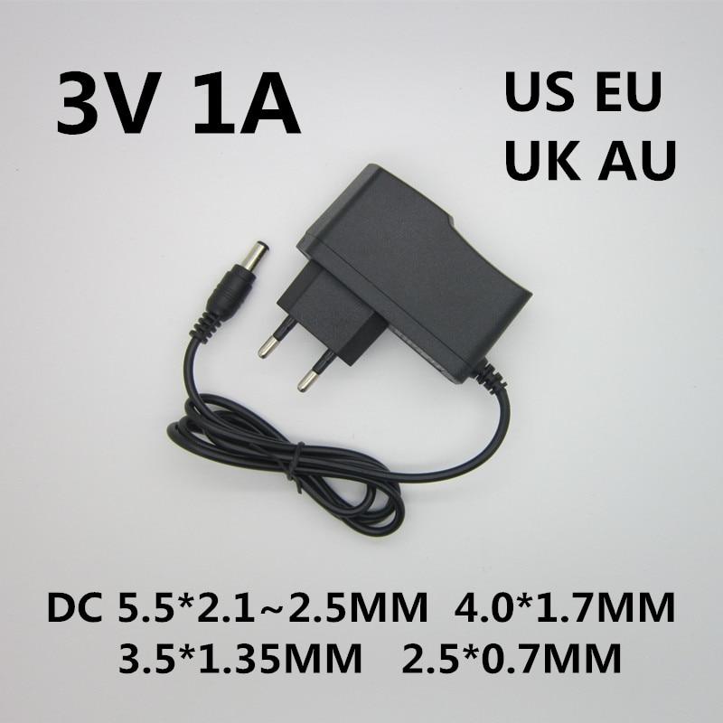 1pcs Best quality AC/DC Converter Adapter Charger Power Supply DC 3V 1A 1000ma AC 100-240V Adapter EU Plug dc 2015 100