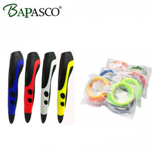 2017 Newest 3D Pen Bapasco 06B Low Temperature Style 3D Printing Pen+120Meter PCL Filament Kids Safest 3D Doodler Drawing Tools