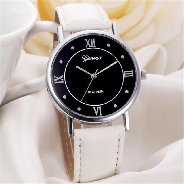 Skórzany Zegarek Na Rękę Unisex