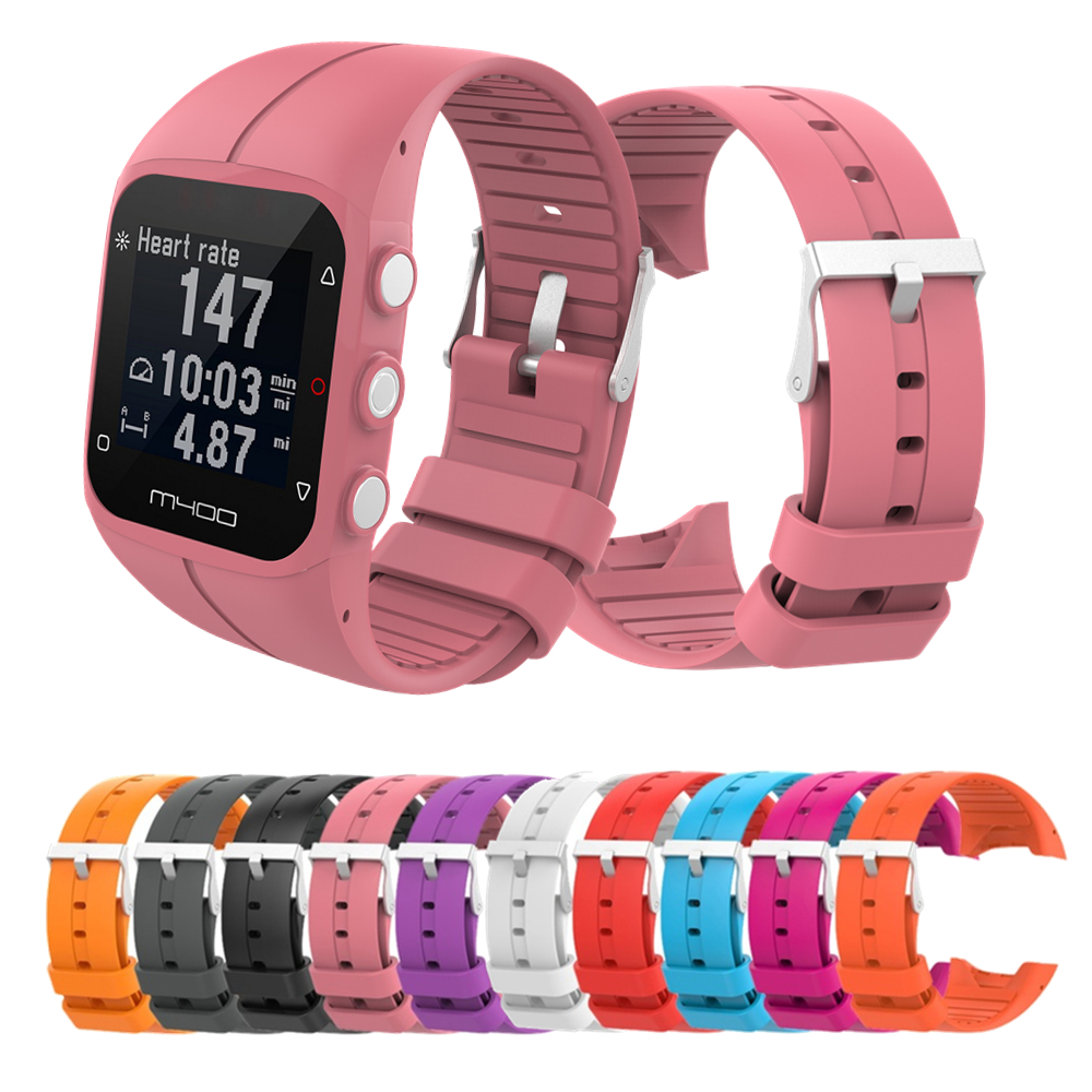 2in1 Silicone Smart Watch Band+TPU Full Case Cover For Polar M430 Polar M400 Sport Wrist Strap Replacement Bracelet Accessories