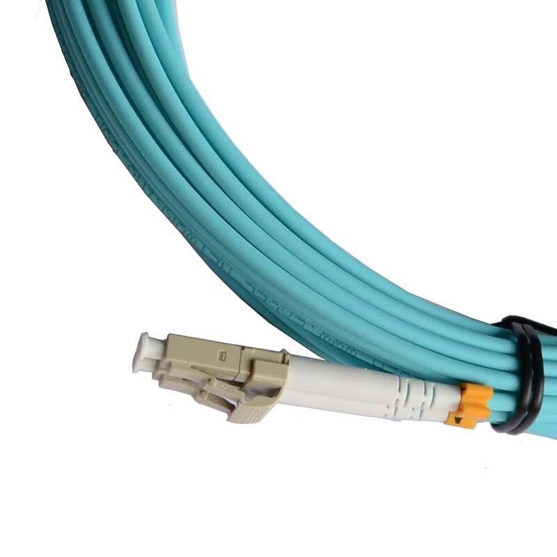 35M LC-SC DUPLEX 10 GIGABIT 50/125 MULTIMODE FIBER OPTIC CABLE OM3 AQUA 10GB,PATCH CORD JUMPER