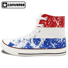 Custom Converse All Star Netherlands Flag Hand Painted Shoes White HIgh Top Canvas Sneakers Men Women Unique Christmas Gifts