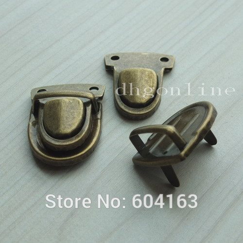 100 Sets Closure Catch Tuck Lock for Leather Bag Case Clasp hangbag Purse Bronze Wholesale
