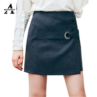 Wfst Brand 2016 Autumn And Winter New Trend Women S Package Overhip Skirt Black Skirts Wool