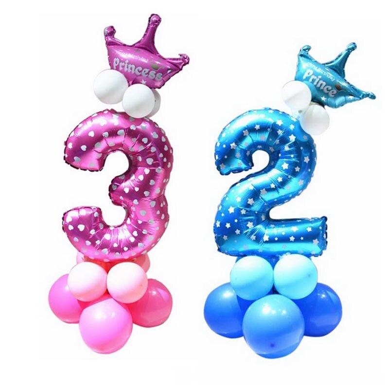Hoomall 32 дюймов розовый синий Фольга шары количество цифр гелий День рождения Свадебные украшения Air шары Baby Shower