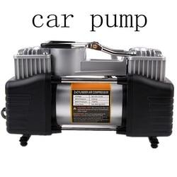 Nieuwe 12V Auto Compressor Inflator Dubbele Cilinder Pomp 150PSI Motorfietsen Fietsen Audio Pomp