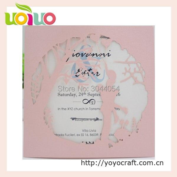 Online Shop Cheap kraft paper bride groom laser cut wedding cards - engagement card template