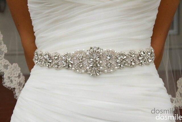 2016 Crystal sashes for wedding Bridal Rhinestone Belt Wedding Accessories Beaded Sash