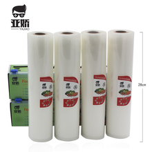 YAJIAO Alimentare Vacuum il Sacchetto di 28*500cm con Lama di Taglio Box Per Sigillatore di Vuoto Cibo Fresco Cucina Mantenere A Lungo La sacchetto di immagazzinaggio