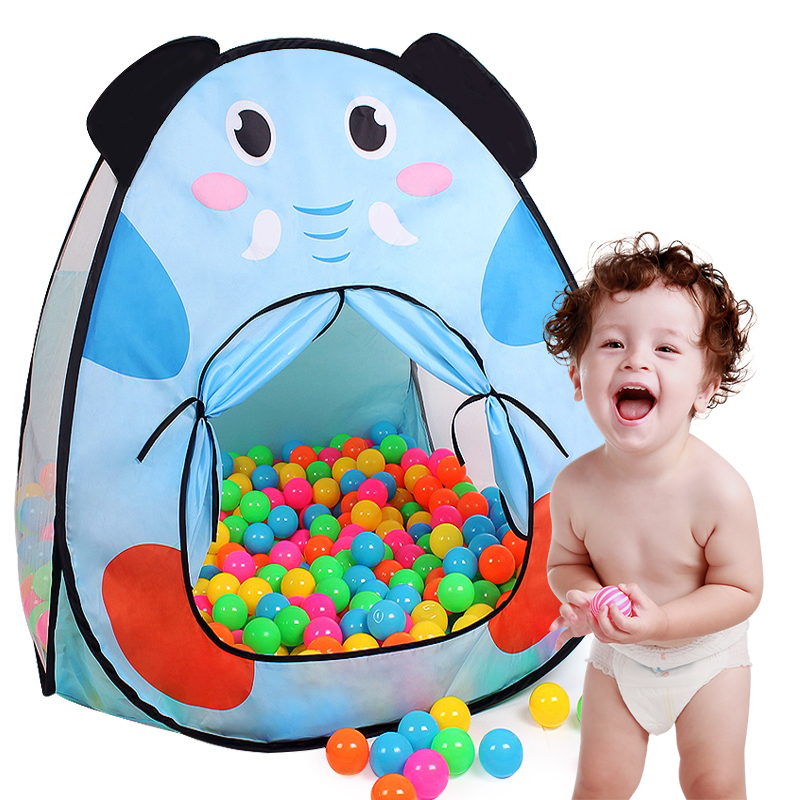 Finger Rock Cartoon Pattern Dog Elephant Style Toy Tents Folding Outdoor Play House Children Game Tents