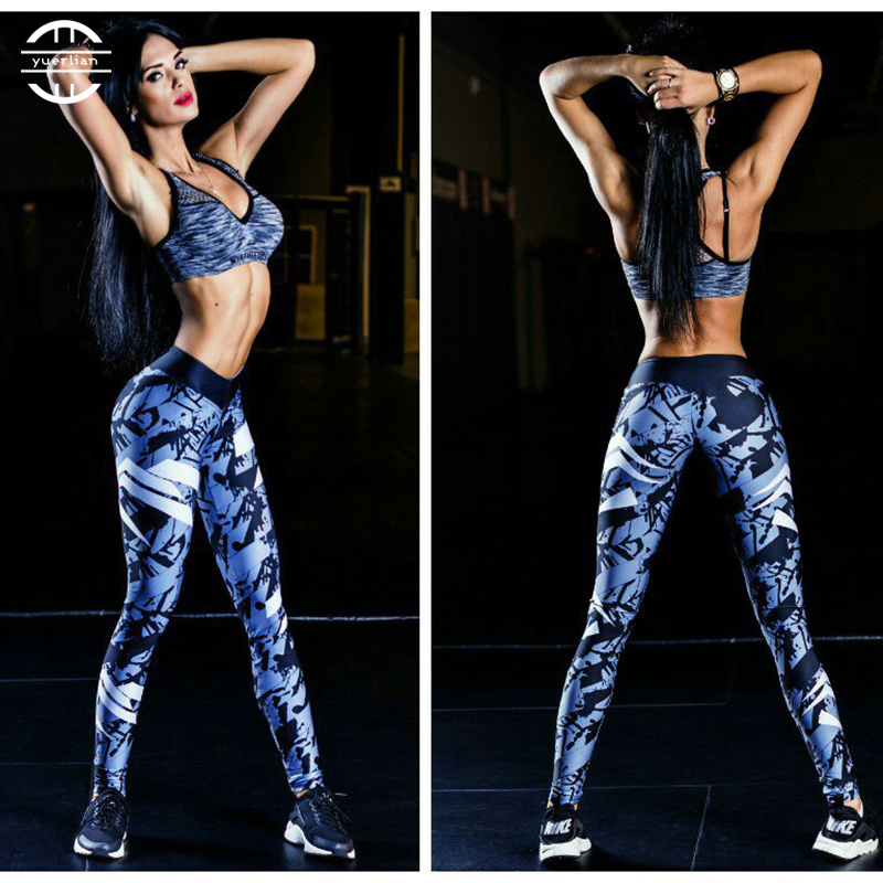 Yuerlian Girls Gym Long Yoga Pants Women Sports Trousers Skinny Sexy  Fitness Tight Leggings Workout Compression Running Pants 5e439d70609