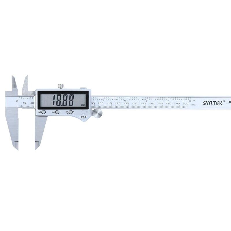 0-200mm IP67 Bluetooth Digital Vernier Caliper 8 Inch Electronic Stainless Steel LCD Waterproof Vernier Caliper Micrometer Guage calipers