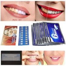 28Pcs/14Pair 3D White Gel Teeth Whitening Strips Zahnaufhellung Tooth Denti Bianchi Paski Wybielaj Ce Oral Hygiene Care