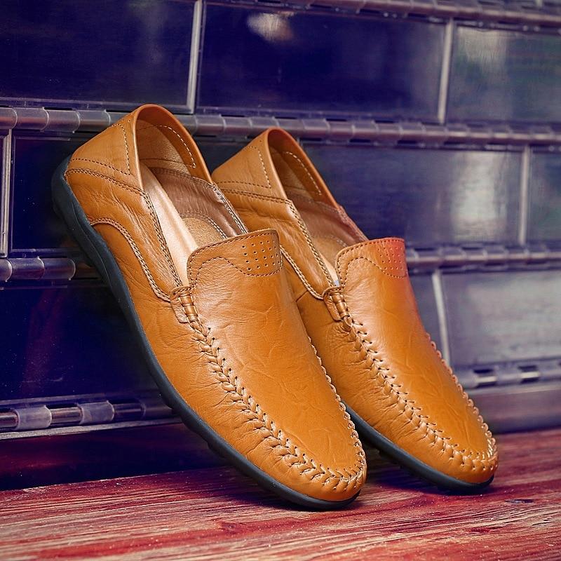 Zapatos Taille Mocassins Asifn Rétro Masculino Noir Fourrure Hombre marron Sapato fur fur De jaune Pour Occasionnels fur yellow brown Caoutchouc Grande Hommes Style black Chaussures vqXrqd