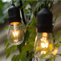 Free Shipping Black 14 4M Long Exterior Industrial Retro Gazebo String Lights Romantic For Outdoor Include