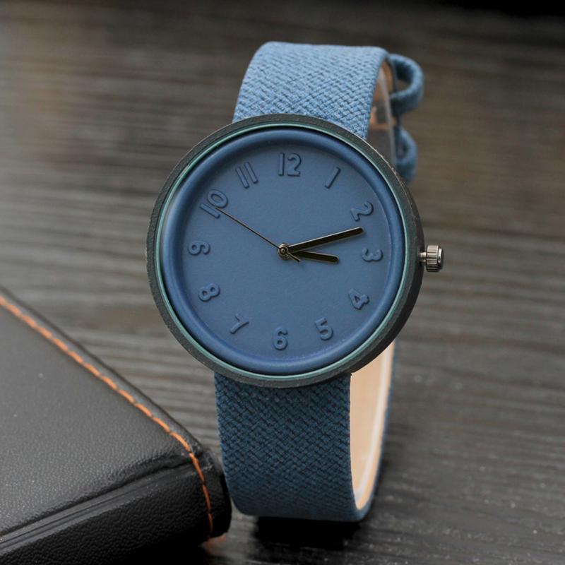 Women Dress Wrist Watch Unisex Ladies Casual Simple Fashion Number Watch Quartz Canvas Belt Female Students Girls Clock
