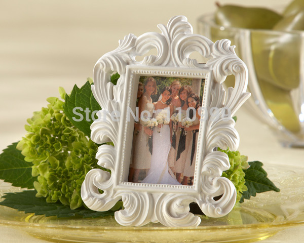 White Baroque photo frame wedding place card holder picture frame-in Frame from Home & Garden    1