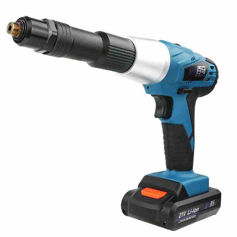 21v Portable Cordless Charging Electric Rivet Gun Support 2.4mm 3.2mm 4.0mm 4.8mm Rivet With LED Lights Rivet Nut Gun