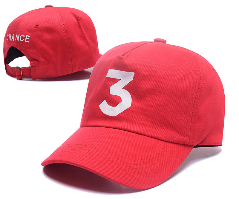 Online Shop Chance 3 hat white pink  red chance the rapper cap gorra  snapback baseball cap 6 panel snapbacks  a2a60114189