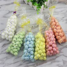 48 pcs 2017 new DIY handmade accessories wedding decoration hair ornaments head decoration cute bird pigeon eggs sold per packag(China)