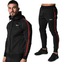 2018 New Design Autumn Men Gyms Piece Sets Cotton Thick Pullover Hoodies Pants Sportwear Suit Male
