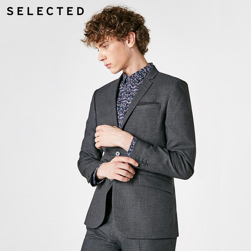 SELECTED  Men Single Breasted Business Jacket | 41845X501