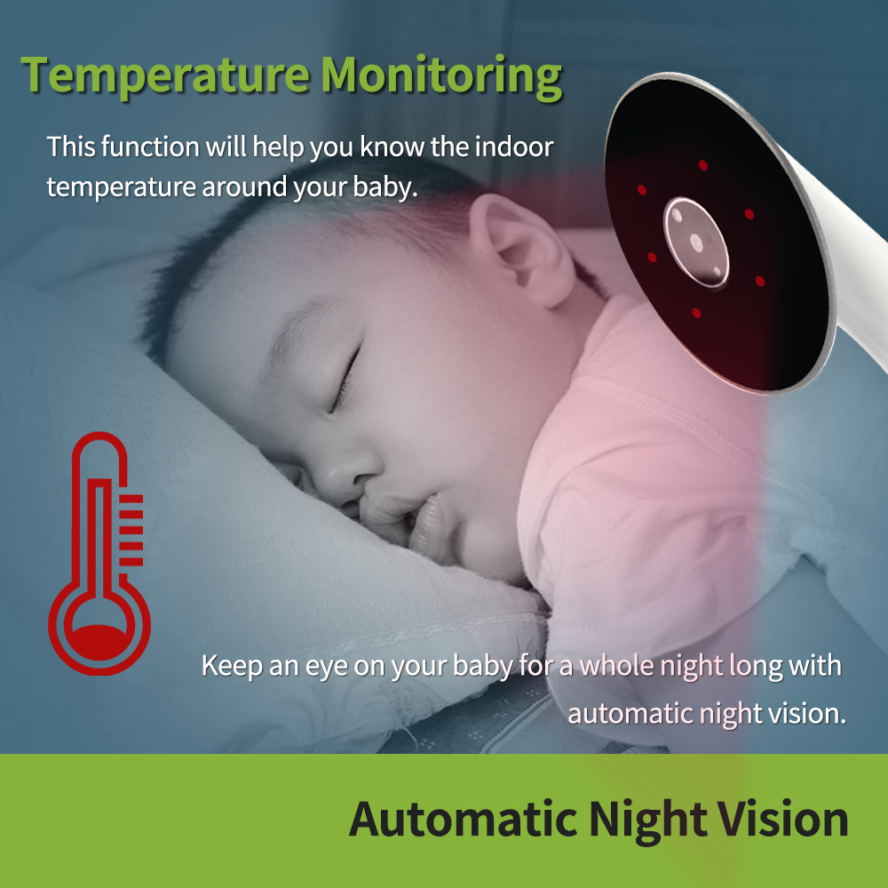 Image 5 - Wireless Video Watch Style Baby Monitor Portable shock vibration Baby Nanny Cry Alarm Camera Night Vision Temperature Monitoring-in Baby Monitors from Security & Protection