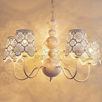 A1 crystal chandelier garden French white bedroom living room wrought iron chandeliers Jane creative ZX112