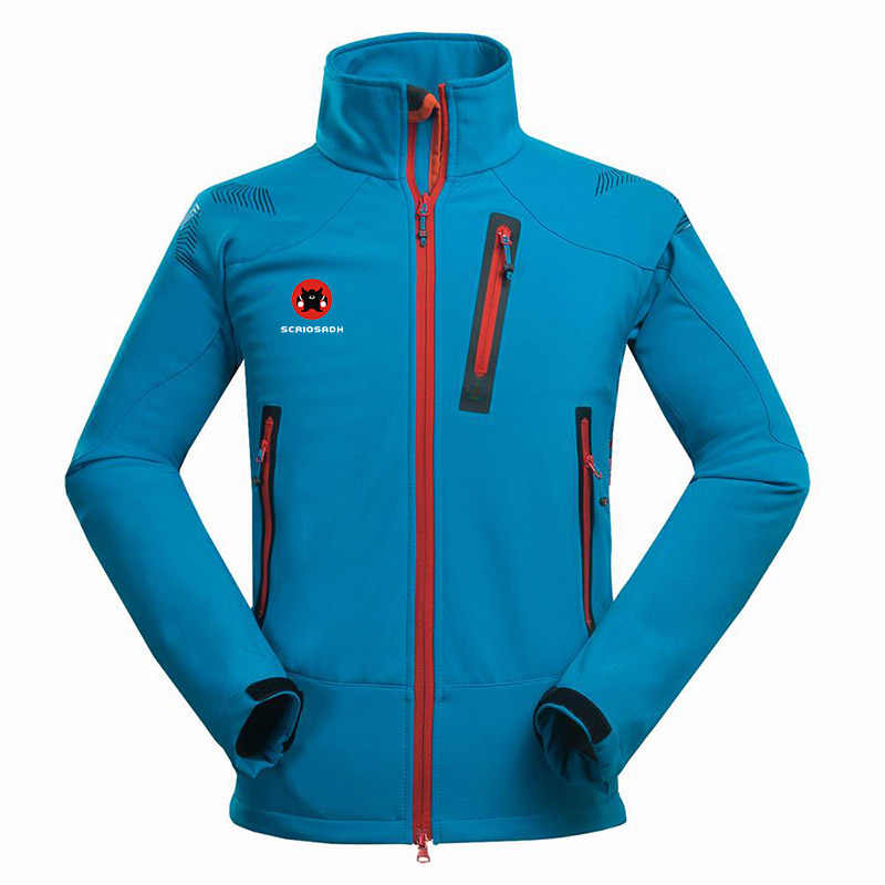 Winter Outdoor Mannelijke Soft Shell Windbreaker Jas Waterdicht Thermische Bergbeklimmen Sport Anti-Uv Fleece Ademende Jas