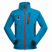Winter Outdoor Male Soft shell Windbreaker Jacket Waterproof Thermal Mountain Climbing Sports Anti-UV Fleece Breathable Jacket