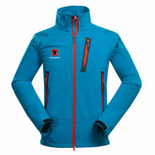 Winter Outdoor Mannelijke Soft Shell Windbreaker Jas Waterdicht Thermische Bergbeklimmen Sport Anti-Uv Fleece Ademende Jas(China)