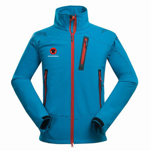 Winter Outdoor Male Soft shell Windbreaker Jacket Waterproof Thermal Mountain Climbing Sports Anti-UV Fleece Breathable Jacket(China)
